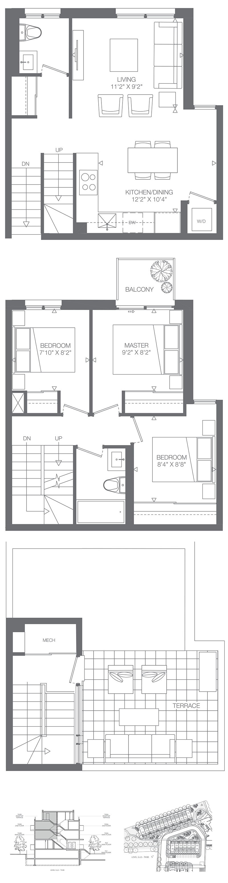 Floorplans For 1 Bedroom Townhomes Kingsway By The River